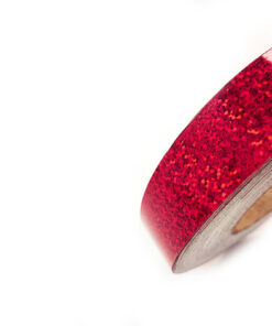 """1"""" x150' Cherry Red Sequin Tape"""