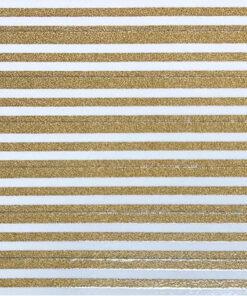 Gold stripes on white
