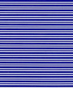Med blue stripes on white
