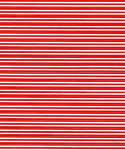 Red stripes on white