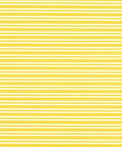 Yellow stripes on white