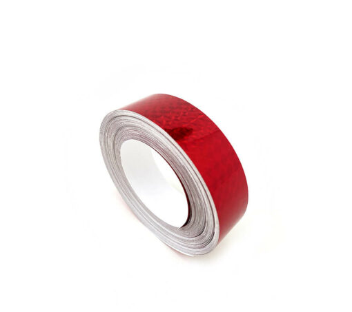"""1"""" x 60' Prismatic Ruby Red Tape"""